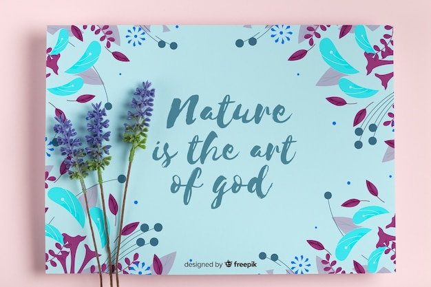 Nature paint concept with lavender Free Psd