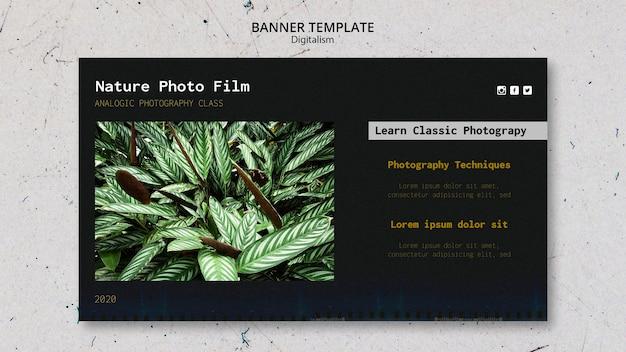 自然写真フィルムバナーテンプレート 無料 Psd