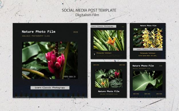 Modello di post sui social media per foto di natura Psd Gratuite