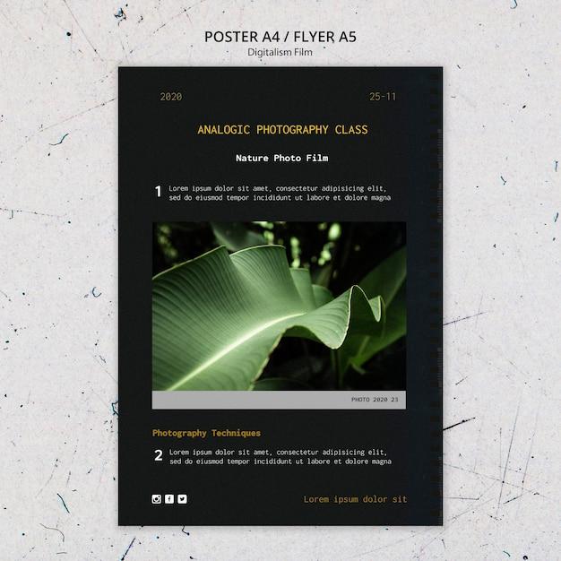 Volantino modello di pellicola fotografica di natura Psd Gratuite