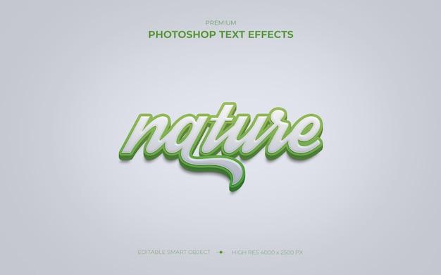 Nature text effect mockup Premium Psd