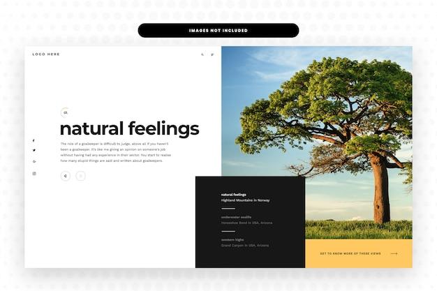 Nature website Premium Psd