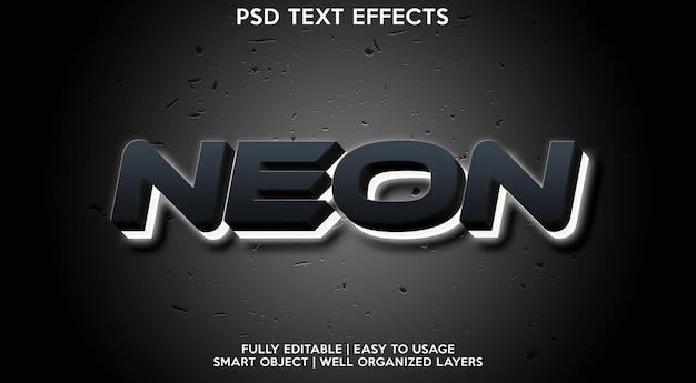 ネオンテキスト効果テンプレート Premium Psd