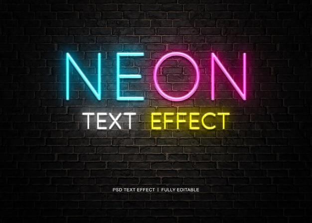 Neon text effect Premium Psd