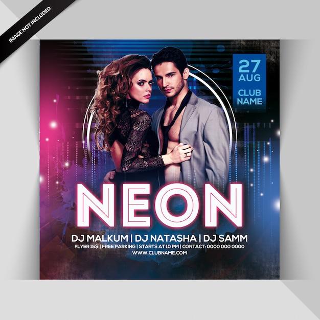 Neonparty flyer Premium Psd