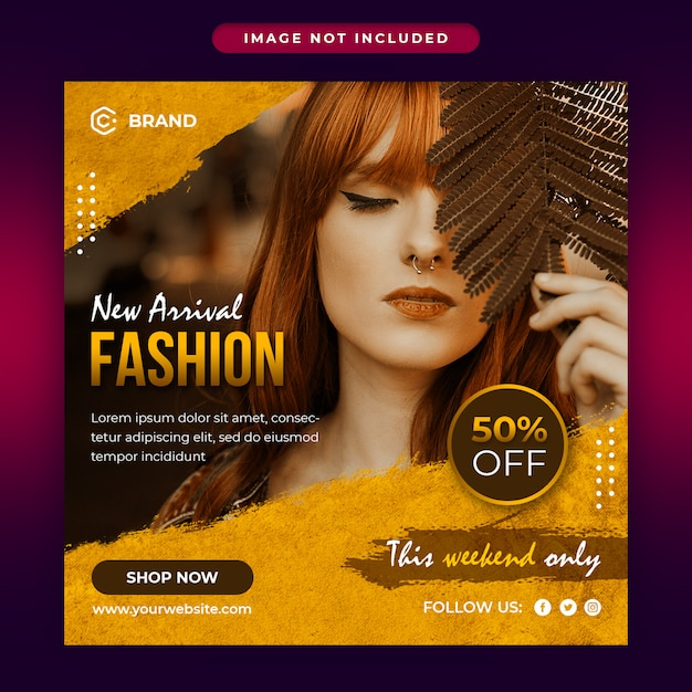 New arrival fashion sale social media and web banner template Premium Psd
