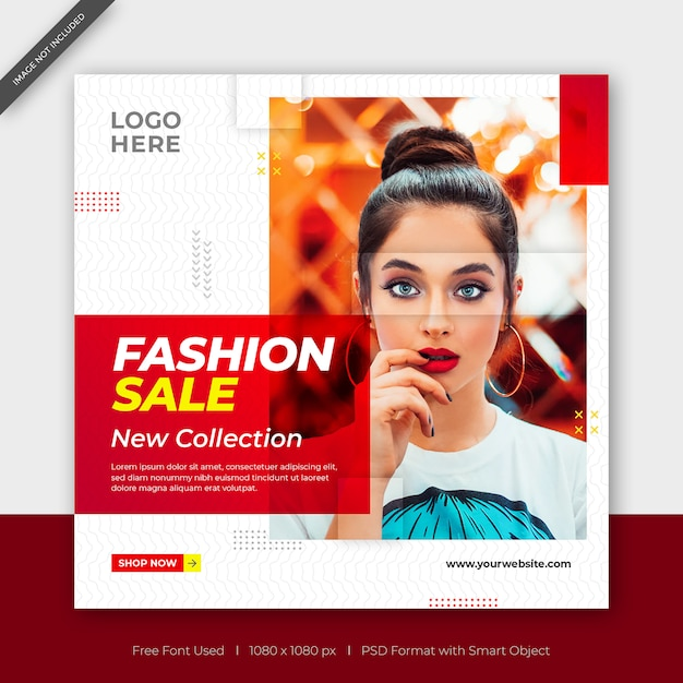 New collection fashion sale facebook or instagram post square banner Premium Psd