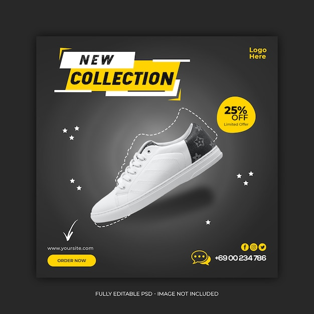 New collection shoes social media banner template Premium Psd
