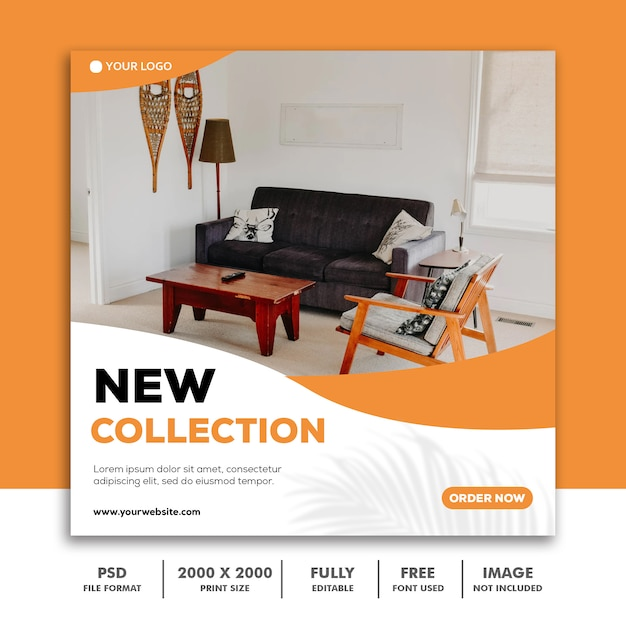 New collection social media post template Premium Psd