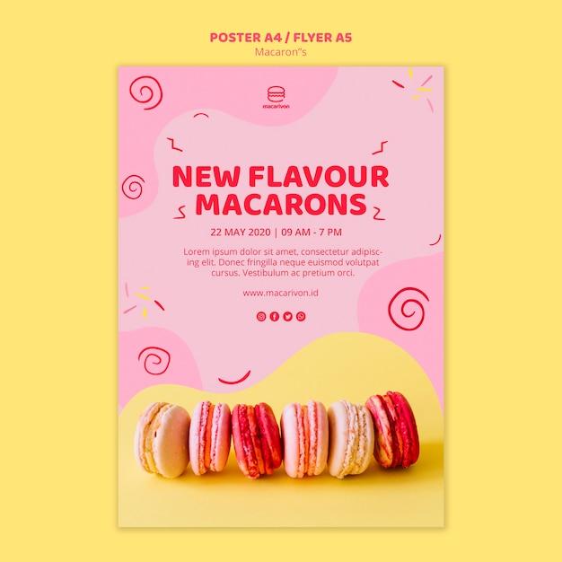 Nuovo modello di poster macarons sapore Psd Gratuite