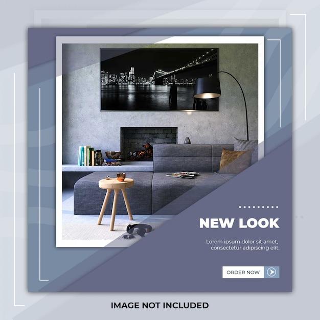 New furniture social media post template banner Premium Psd