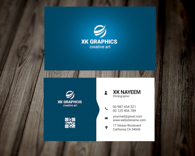 New graphic designer business card PSD file | Premium Download