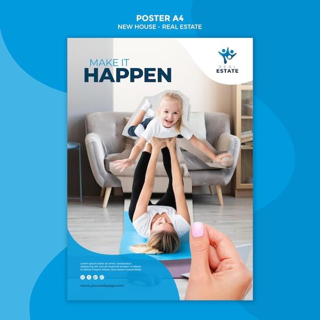 새 집 부동산 포스터 무료 PSD 파일