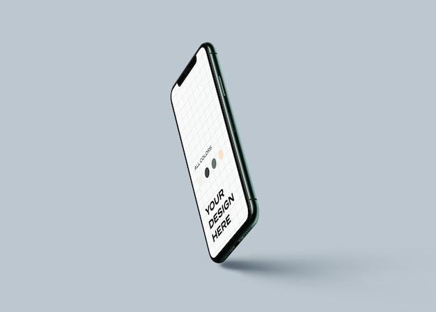 Мокап нового мобильного телефона Premium Psd