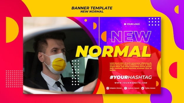 New normal banner theme Free Psd