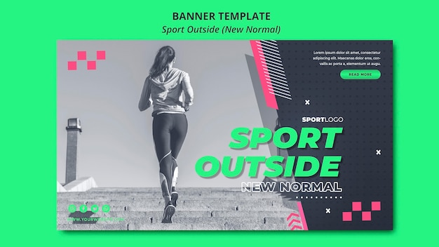 New normal in sport banner design Free Psd
