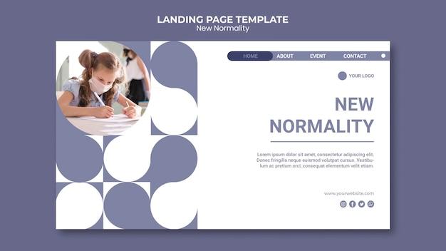 Nuova home page di normalità Psd Gratuite