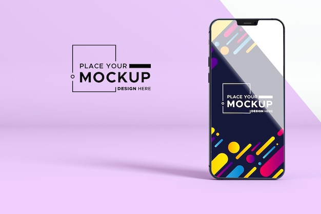 New phone mock-up Free Psd