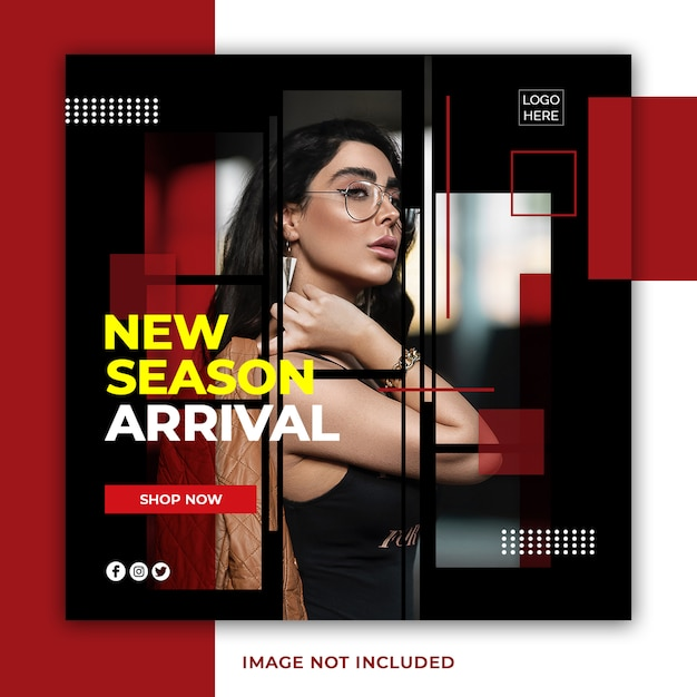 New season arrival instagram post banner psd