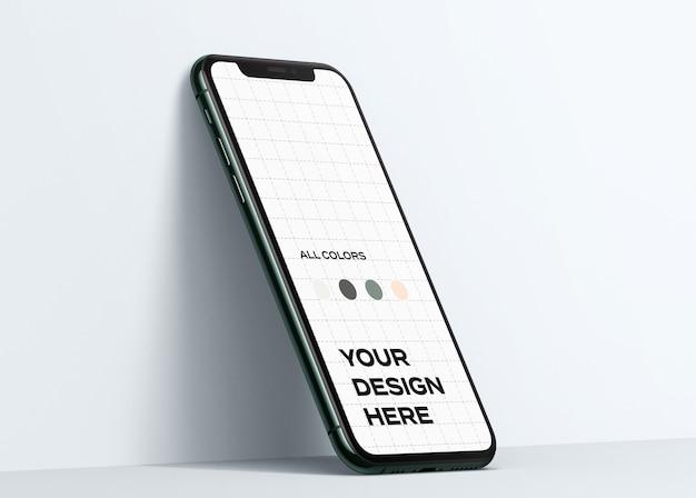 아이폰 11 프로 모형 프리미엄 PSD 파일