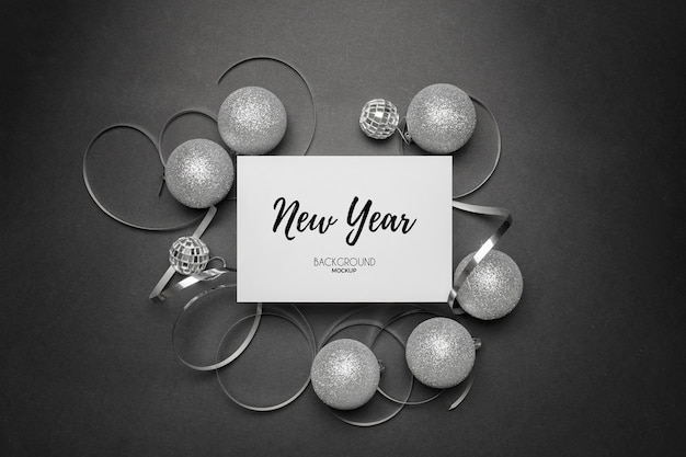 New years party remnants with silver tones on a white elegant Free Psd