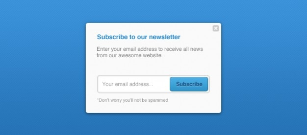 Newsletter newsletters pop up subscribe Free Psd