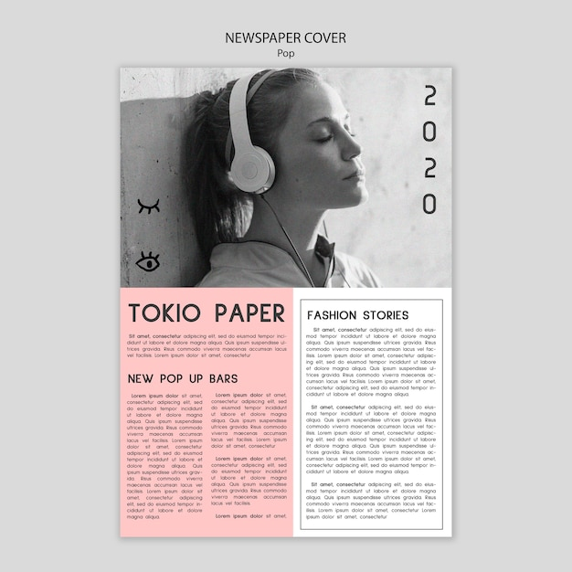 newspaper cover template with picture