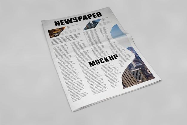 신문 모형 무료 PSD 파일