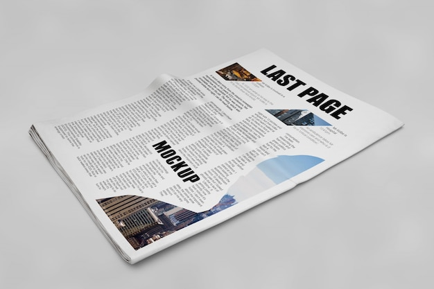 Newspaper mockup Free Psd