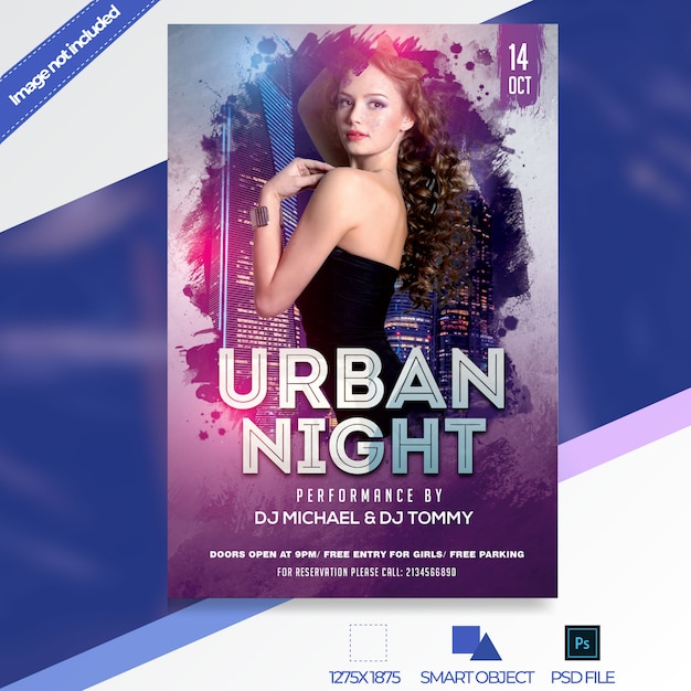 Night club flyer template Premium Psd