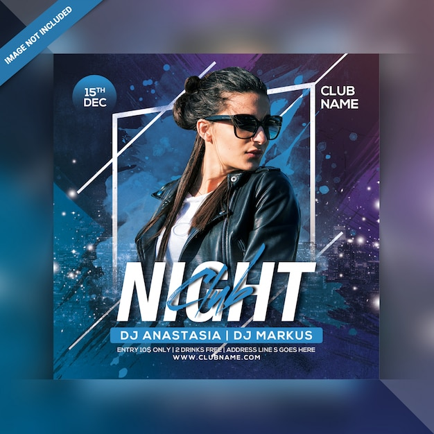 Night club party flyer Premium Psd
