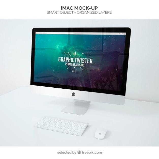 iMacモックアップ 無料 Psd