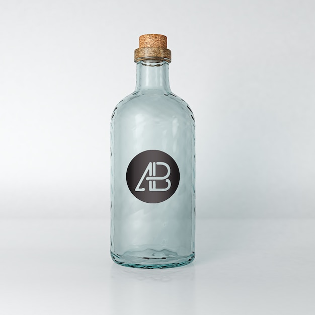 Бутылка масла mock up psd