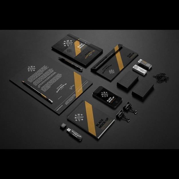 Бизнес канцелярские макете дизайн Бесплатные Psd