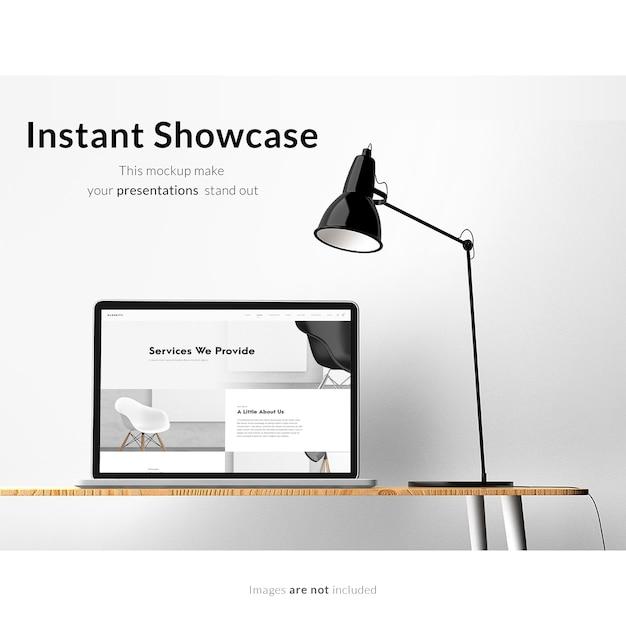 ノートパソコンのモックアップデザイン Premium Psd