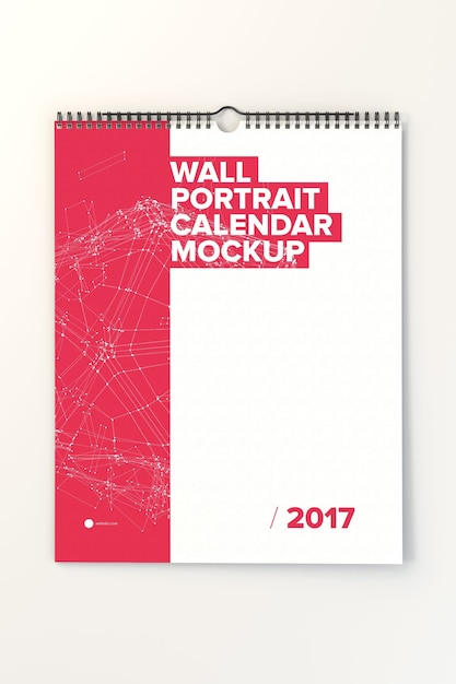 Настенный календарь макете дизайн Psd файл премиум Скачать