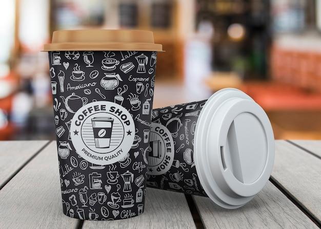 Макет кофейной чашки Бесплатные Psd