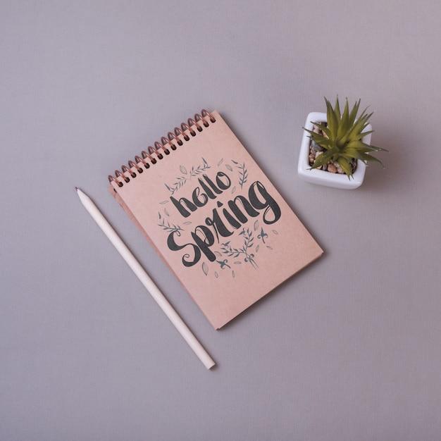 花と春のメモ帳テンプレート 無料 Psd