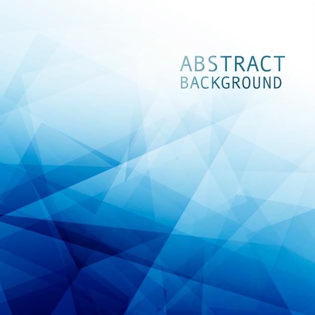 幾何学的図形と抽象的なブルーの企業背景 無料 Psd