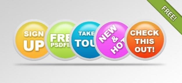 Web 2.0 Badges Бесплатные Psd