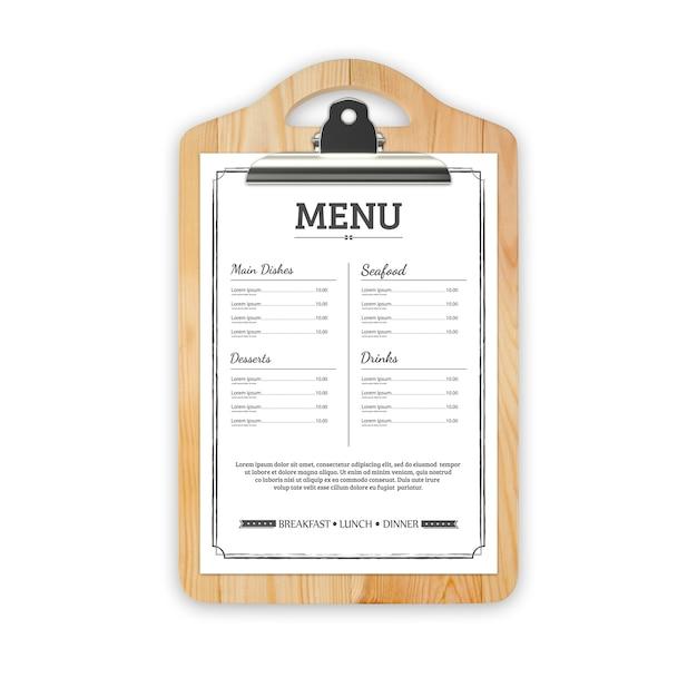 レストランメニューのモックアップ Premium Psd