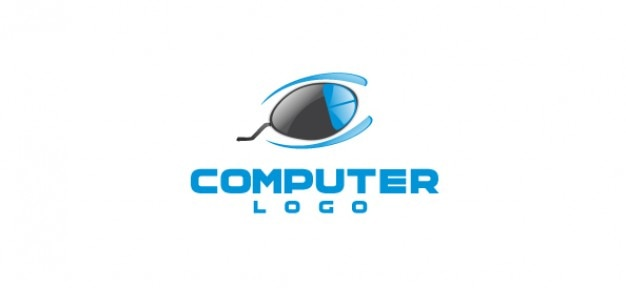 コンピュータ会社のロゴのベクトルテンプレート psdファイル 無料