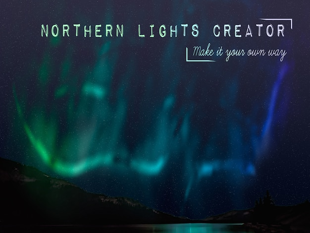 Northern lights creator nature phenomenon Free Psd