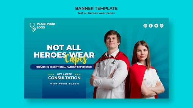 すべてのヒーローがケープのコンセプトテンプレートを着用しているわけではありません Premium Psd