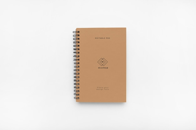 Notebook hardcover mockup on white background Free Psd