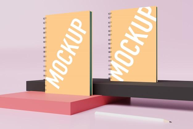 Notebook mockup for scene creator in free psd Premium Psd