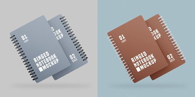 Notebook set mockup Psd Gratuite