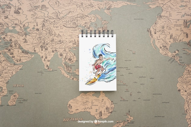 Notepad on world map psd file free download notepad on world map free psd gumiabroncs Choice Image