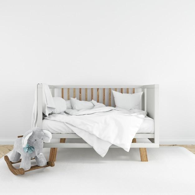 Nursery interior room design Free Psd