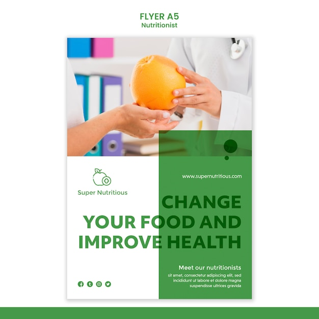 Free Psd Nutritionist Flyer Template With Photo